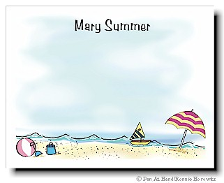 personalized theme card beach