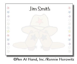 personalized theme card cowboy