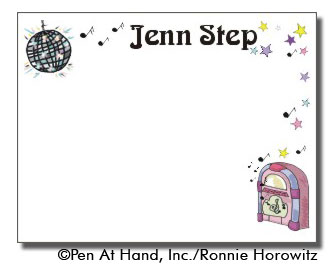 personalized theme card disco ball